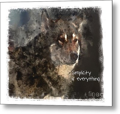 Metal Print featuring the digital art Simplicity by Elaine Ossipov