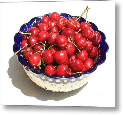 Simply A Bowl Of Cherries Metal Print by Carol Groenen
