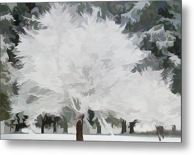 Simply Soft Essence Of Winter Metal Print