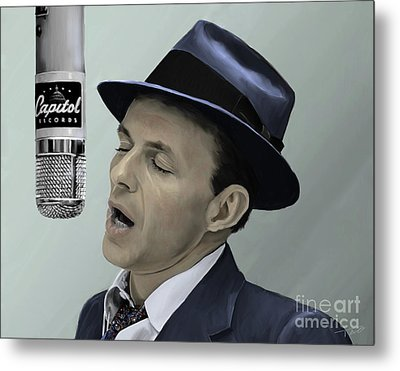 Sinatra - Color Metal Print by Paul Tagliamonte