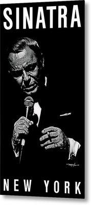 Sinatra W Sig Metal Print