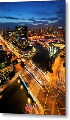 Singapore - Clarke Quay Metal Print by Ng Hock How