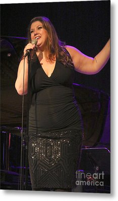 Singer Jane Monheit  Metal Print by Concert Photos