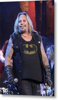 Singer Vince Neil Metal Print by Concert Photos