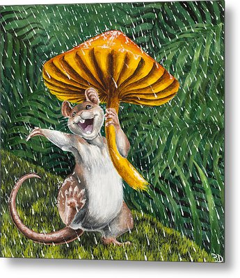 Singing In The Rain Metal Print by Beth Davies