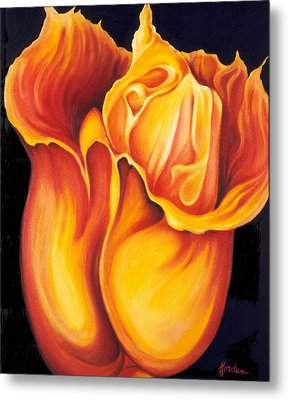 Singing Tulip Metal Print