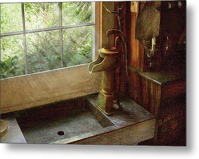 Sink - Water Pump Metal Print by Mike Savad