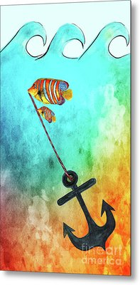 Metal Print featuring the mixed media Sink Or Swim By Kaye Menner by Kaye Menner