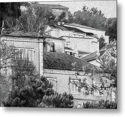 Sintra In Black And White Metal Print by Julie Palencia