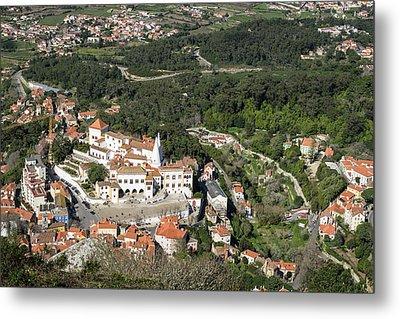 Sintra National Palace Aerial Metal Print