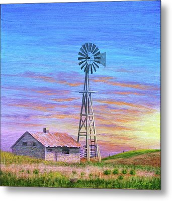 Sioux County Sunrise Metal Print by J W Kelly