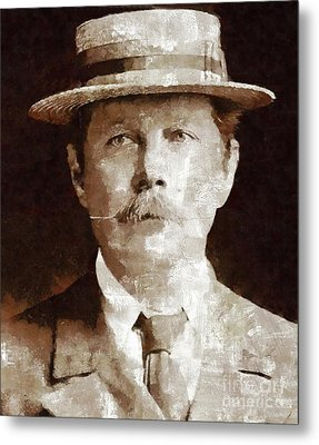 Sir Arthur Conan Doyle By Mary Bassett Metal Print