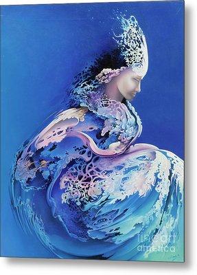 Sirenetta Metal Print by Symona Colina