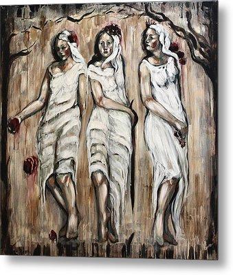 Sisters Of Mercy Metal Print by Carrie Joy Byrnes