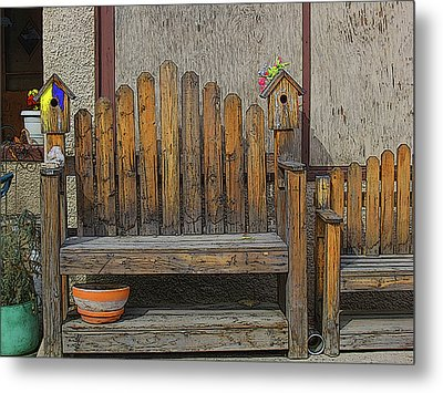 Metal Print featuring the photograph Sit With The Birds by Tammy Sutherland
