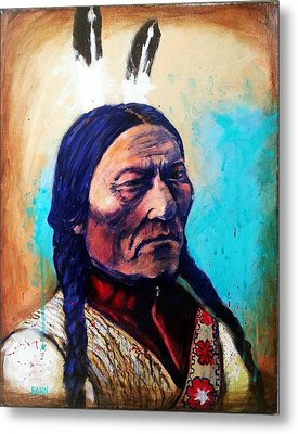 Sitting Bull Metal Print by Chris Bahn