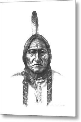 Sitting Bull Metal Print by Lee Updike