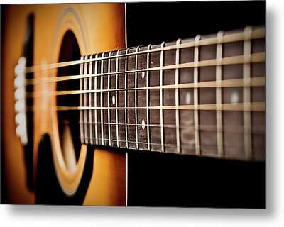 Six String Guitar Metal Print