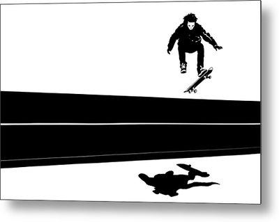 Skateboard Metal Print by Giuseppe Cristiano