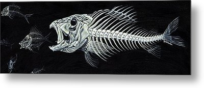Skeletail Metal Print by JoAnn Wheeler