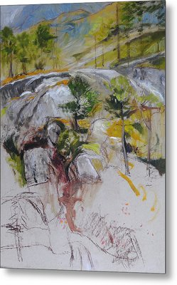 Sketch For Ogwen Painting Metal Print by Harry Robertson