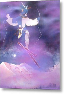 Ski Kachina Bowl Taos New Mexico Metal Print by Anastasia Savage Ealy