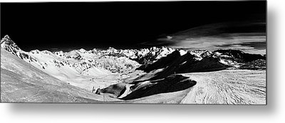Ski Panorama Metal Print by Contemporary Art