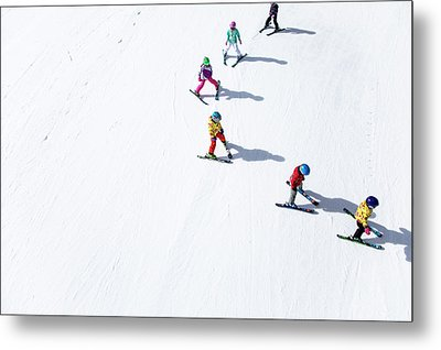 Ski  Metal Print by Tom Cuccio