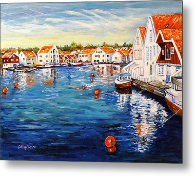 Skudeneshavn Norway Metal Print