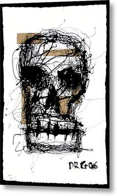 Skull Metal Print by Dmitry Gubin