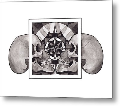 Skull Mandala Series Nr 1 Metal Print by Deadcharming Art