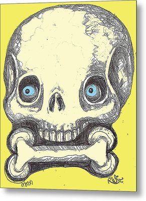 Skullnbone Metal Print by Robert Wolverton Jr