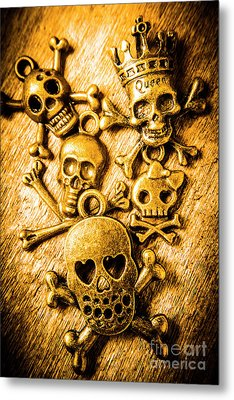 Skulls And Crossbones Metal Print