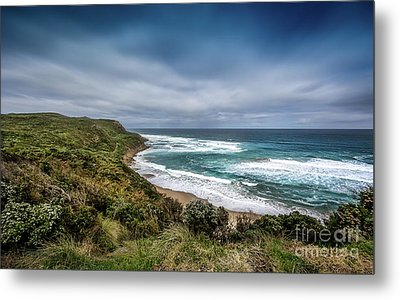 Metal Print featuring the photograph Sky Blue Coast by Perry Webster