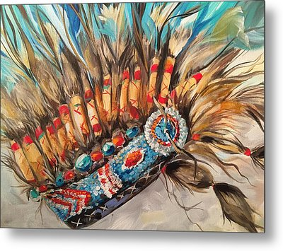 Sky Feather Detail Metal Print by Heather Roddy