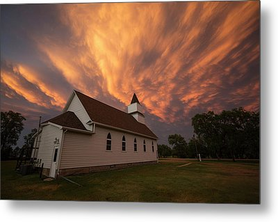 Metal Print featuring the photograph Sky Of Fire by Aaron J Groen