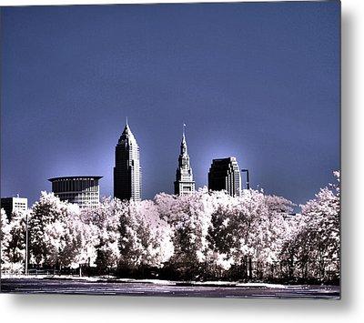 Skyline Cleveland, Ohio Metal Print by Bob LaForce