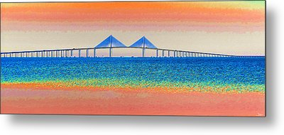 Skyway Morning Metal Print by David Lee Thompson