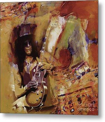Slash Guitarist 1 Metal Print