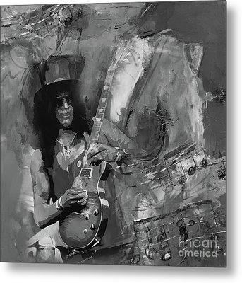 Slash Guitarist Metal Print