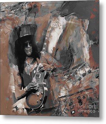 Slash Guns And Roses  Metal Print