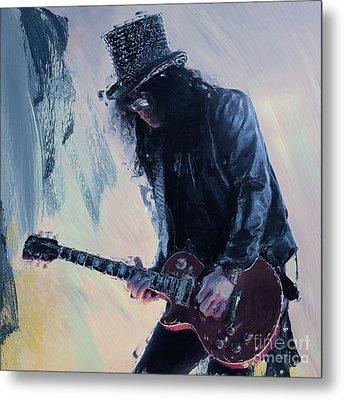 Slash Musician 01 Metal Print