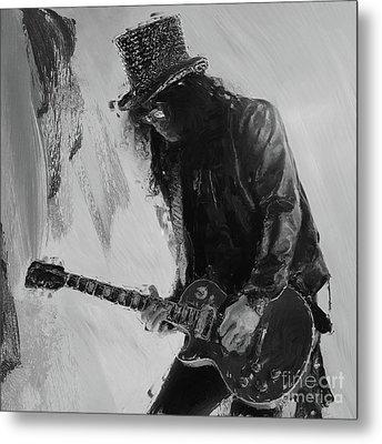 Slash Musician Metal Print