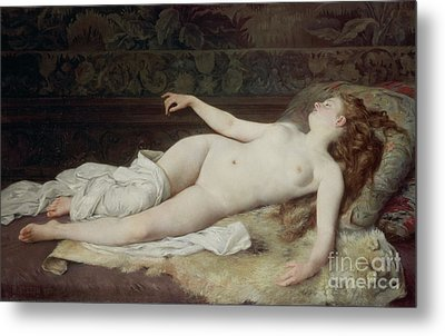 Sleep Metal Print by Louis Joseph Raphael Collin