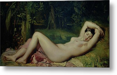 Sleeping Nymph Metal Print by Theodore Chasseriau