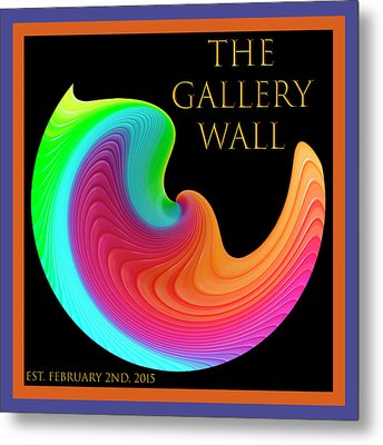 Metal Print featuring the photograph Slinky Dove Of Peace-the Gallery Wall Logo by Wendy Wilton