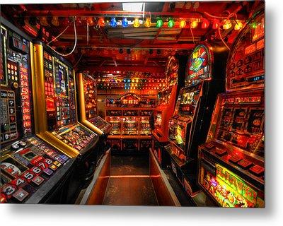 Slot Machines Metal Print by Yhun Suarez
