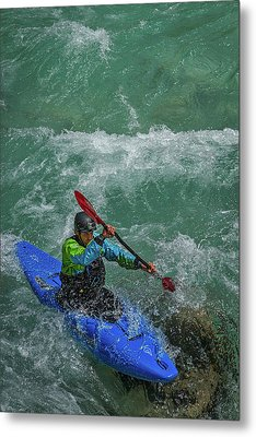 Metal Print featuring the photograph Slovenia Kayaker by Stuart Litoff