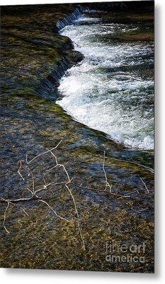 Slow Water Movement Metal Print