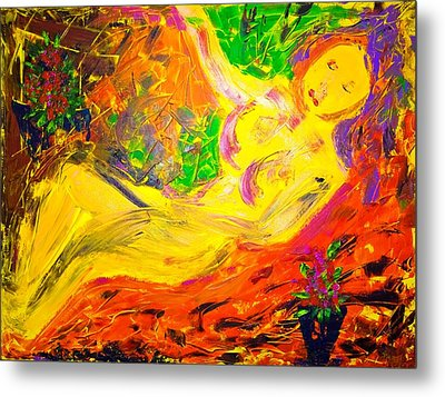 Metal Print featuring the painting Slumber by Piety Dsilva
